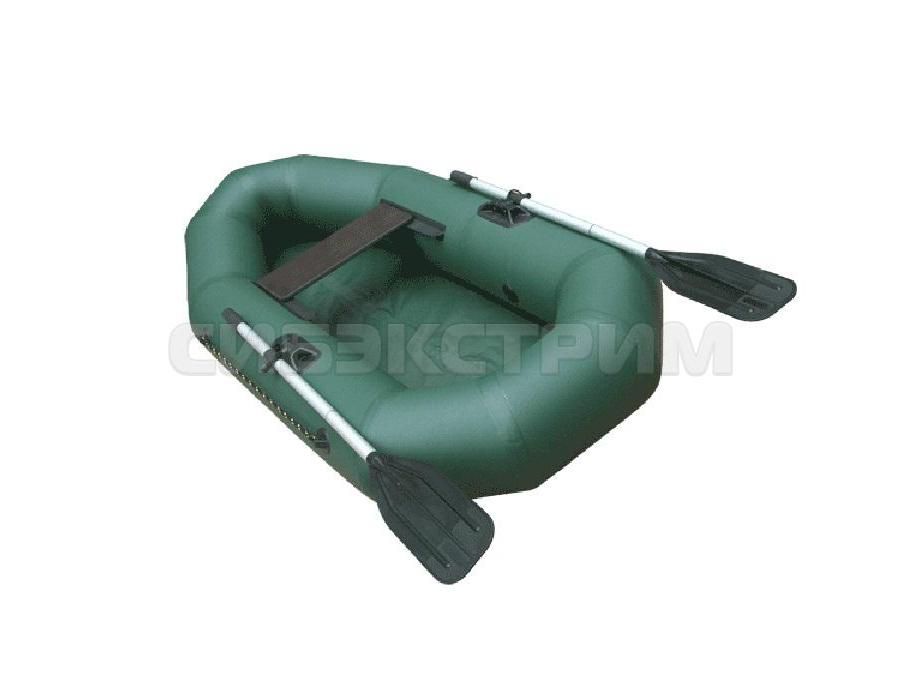 Лодка ПВХ Компакт-200 гребная, зеленый