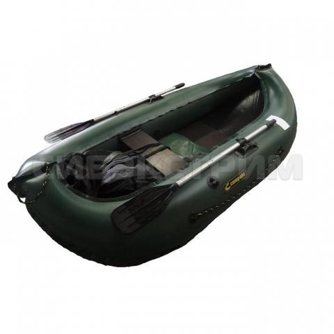 Лодка ПВХ Leader Компакт-240 гребная, зеленый