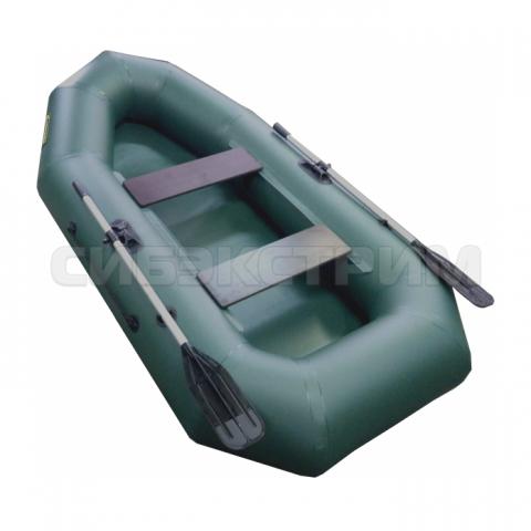 Лодка ПВХ Leader Компакт-255 гребная, зеленый