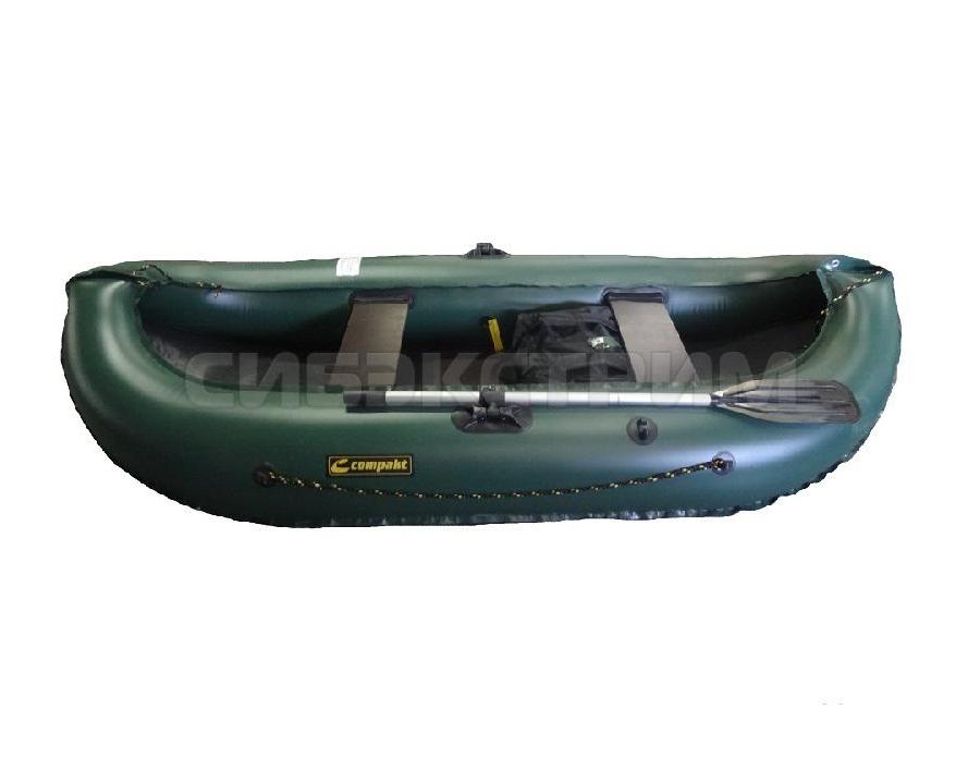Лодка ПВХ Leader Компакт-260 гребная, зеленый