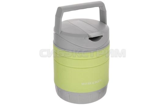 Термос Mayer&Boch 23799 пищевой, пластик, цвет Салатовый/серый, 1л