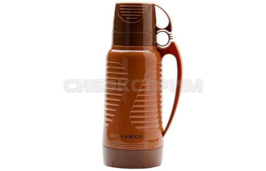 Термос Mayer&Boch 24904 пластик, колба стекло, цвет Коричневый 1,8л
