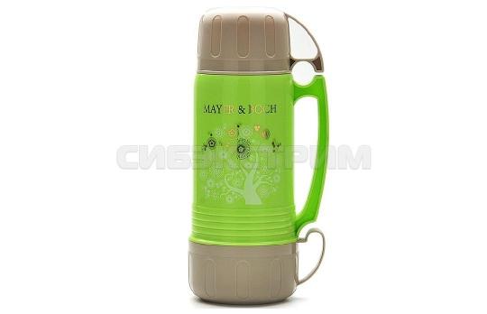 Термос Mayer&Boch 22601 пластик, колба стекло,цвет Зеленый, 1л