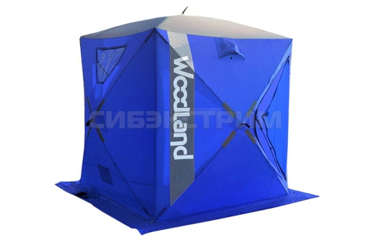 Палатка зимняя куб Woodland Ice Fish 2 165х165х185 см цвет синий
