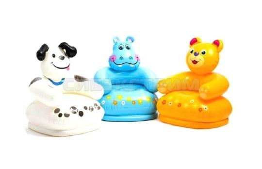Кресло надувное Intex для детей, счастливый зверек, 3-8 лет