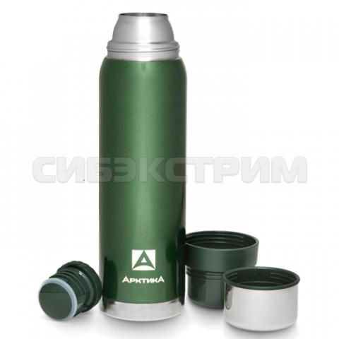 Термос АРКТИКА 106-1200 1,2л (узкое горло) американский дизайн, зеленый