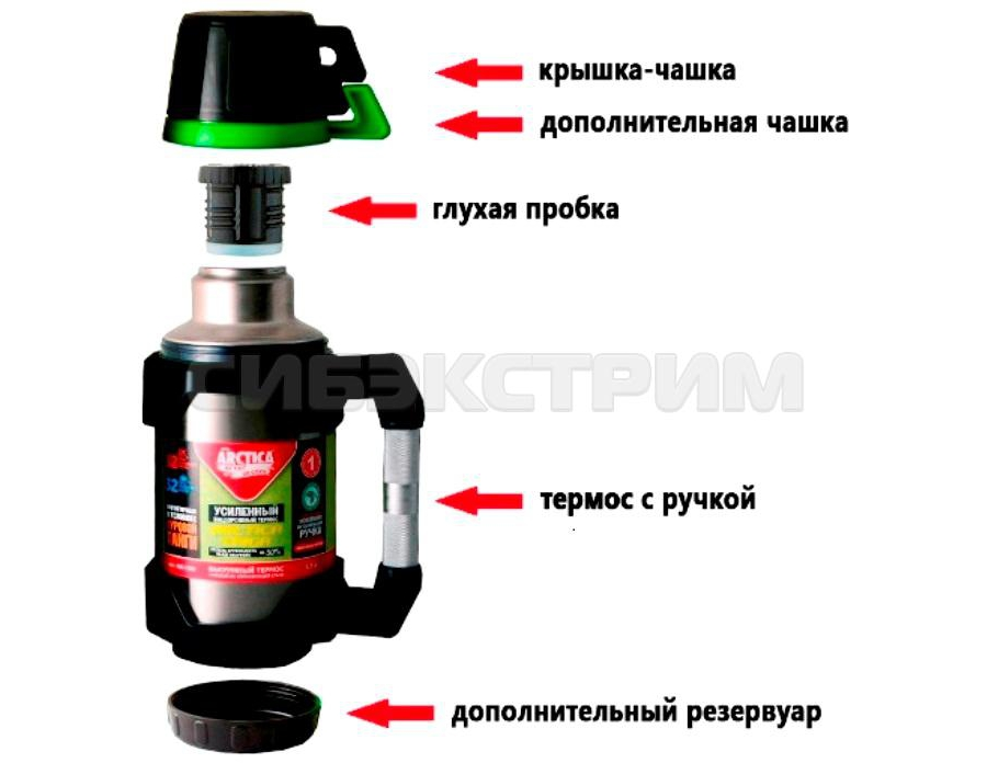Термос АРКТИКА 110-1500 1,5л (узкое горло)