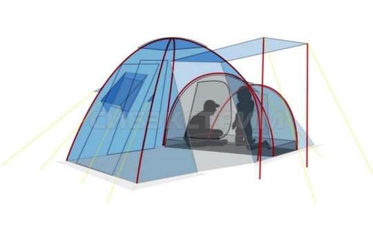 Палатка CANADIAN CAMPER HYPPO 3 woodland