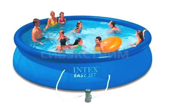 Бассейн INTEX EASY SET 457х84 фильтр- насос