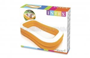Детский надувной бассейн Intex мандарин 229Х147Х46см.
