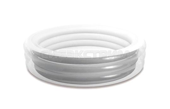 Детский надувной бассейн Intex серебристый 229Х51см.