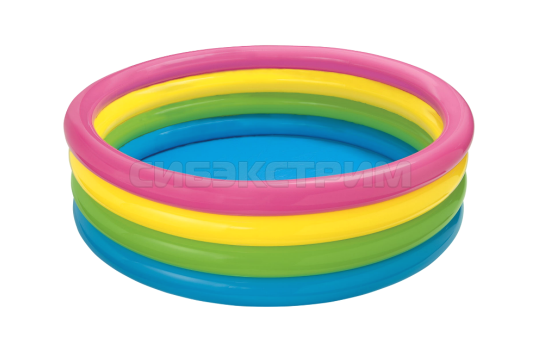 Детский надувной бассейн Intex радуга 168Х46см.