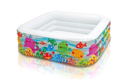 Детский надувной бассейн Intex аквариум 159Х159Х50см