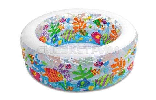 Детский надувной бассейн Intex аквариум 152Х56см