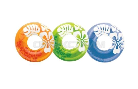 Надувной круг Intex ясный цвет 3 цвета, 91см