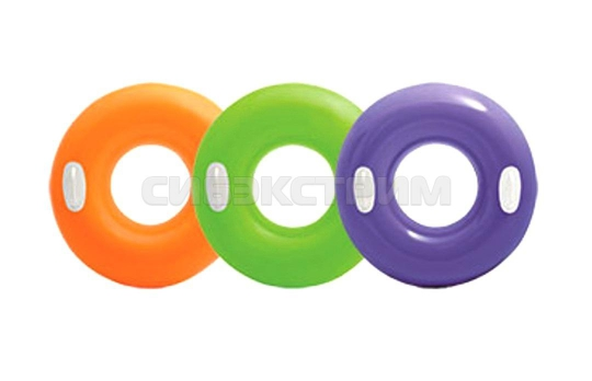 Надувной круг Intex глянцевый 3 цвета 76см
