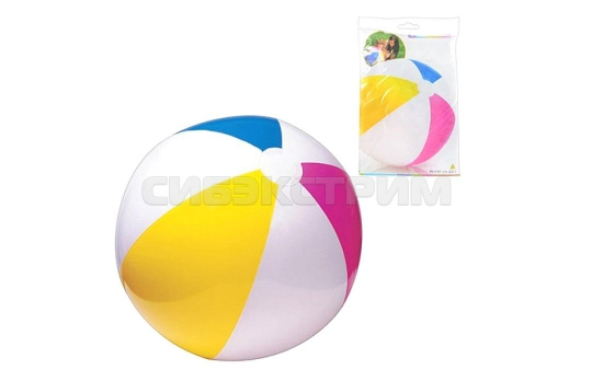 Пляжный мяч Intex глянцевый 61см