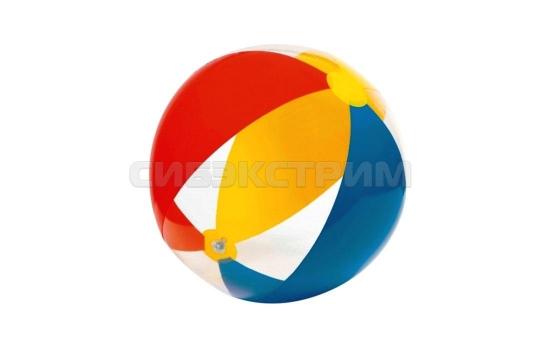 Пляжный мяч Intex прозрачный 2 вида 61см