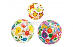 Пляжный мяч Intex прозрачный, 3 вида 61см