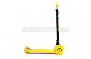 Самокат Black Aqua MG003 желтый-светящиеся колёса