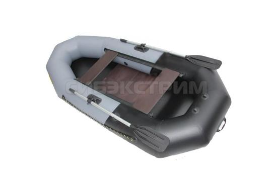 Лодка ПВХ Leader Компакт-265 гребная, серый/черный