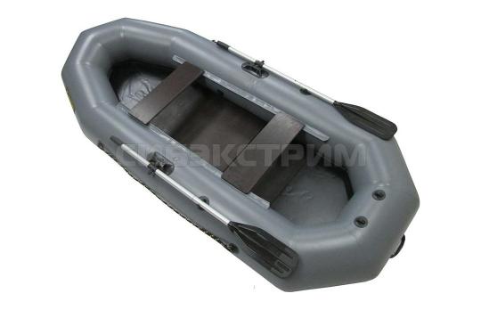 Лодка ПВХ Leader Компакт-265 гребная, серый