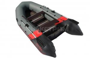 Лодка ПВХ Leader Тайга Nova-340 Киль (темно-серый/красный)