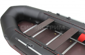 Лодка ПВХ Leader Тайга Nova-340 Киль (черный/красный)