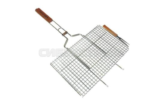 Решетка-гриль BOYSCOUT 450х260х20мм  для стейков, большая, с вилкой