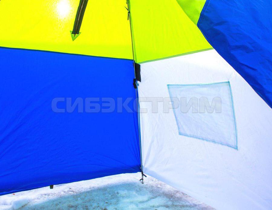 Палатка рыбака Стэк 1-м Классика п/автомат брезент алюминиевая зведочка