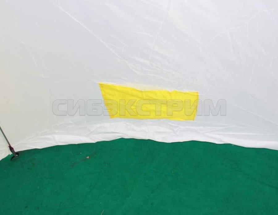 Палатка рыбака Стэк 4-м п/автомат дышащая верх брезент алюминиевая звездочка