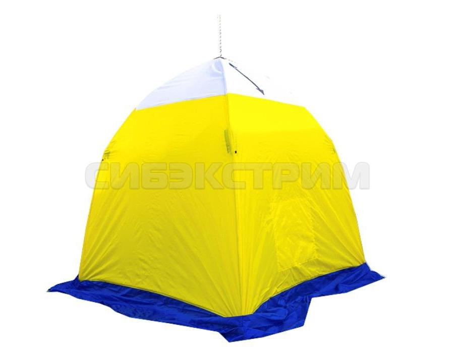 Палатка рыбака Стэк ELITE 1-м п/автомат трехслойная брезент дышащий верх