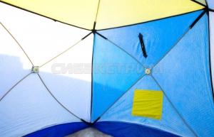 Палатка рыбака Стэк КУБ-1 трехслойная дышащий верх 1700 х1500 х 1500 мм