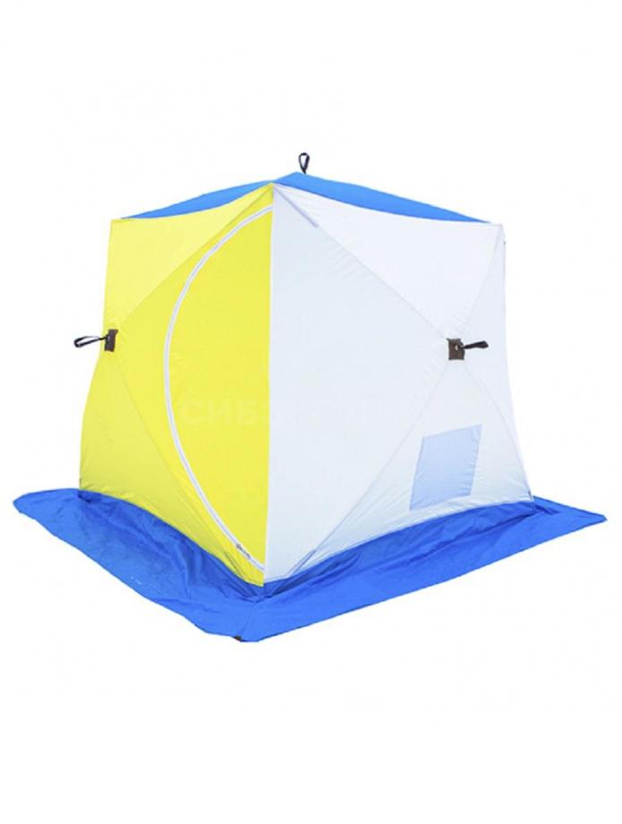 Палатка рыбака Стэк КУБ-3 трехслойная 2050 х 2200 х 2200 мм