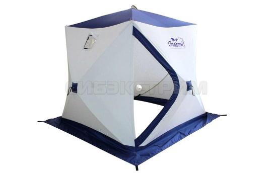 Палатка зимняя куб СЛЕДОПЫТ Эконом 2-х местная 3 слоя 1790 х 1790 х 1770 мм