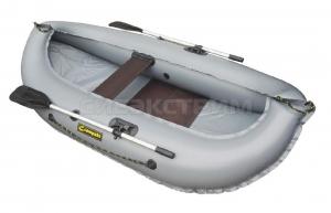 Лодка ПВХ Leader Компакт-240 гребная, серый