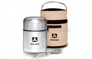 Термос АРКТИКА 301-500А 0,5л супер-широкое горло, суповой в чехле