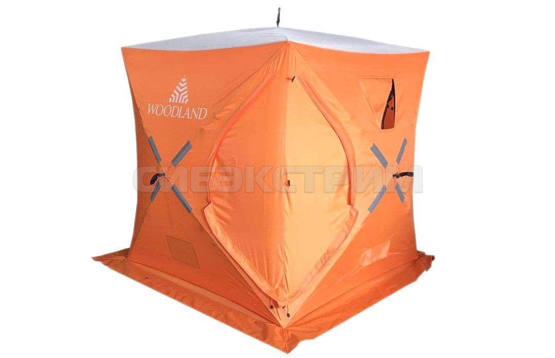 Палатка зимняя WOODLAND ICE FISH 2 1650 х 1650 х 1850 мм. цвет оранжевый