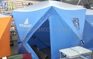 Палатка зимняя WOODLAND ICE FISH 4 1800 х 1800 х 2100 мм. цвет синий
