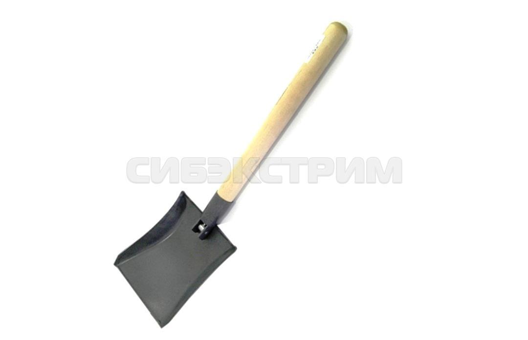 Лопата СЛЕДОПЫТ совковая, складная деревянный черенок с ручкой, в чехле