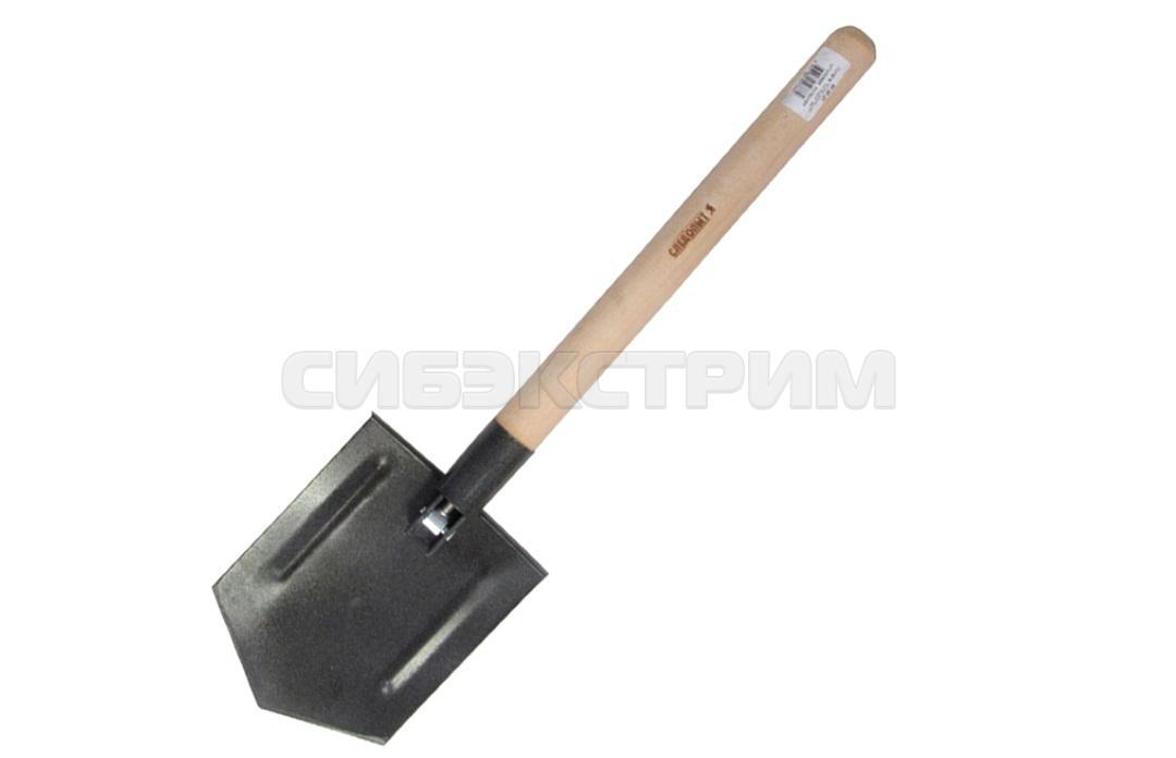 Лопата СЛЕДОПЫТ штыковая, деревянный черенок, складная в чехле