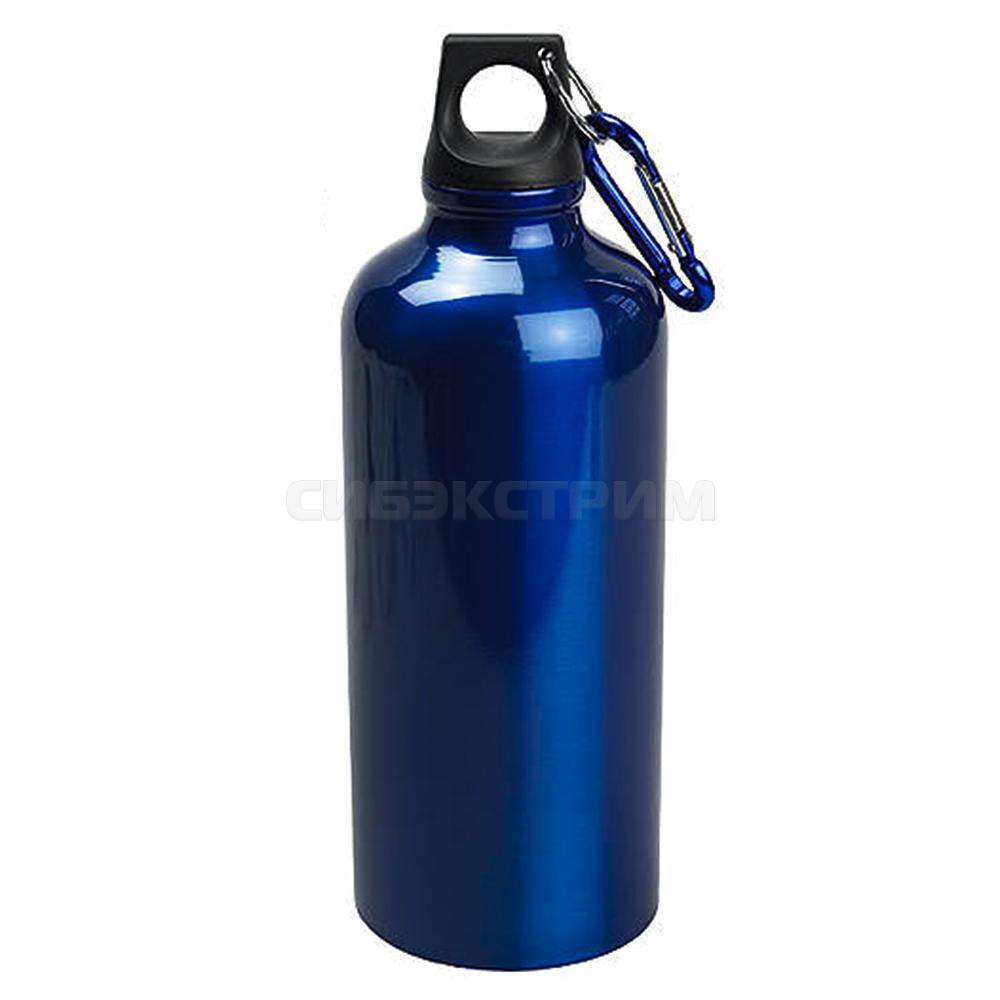 Бутылка питьевая алюминиевая 600мл, синий
