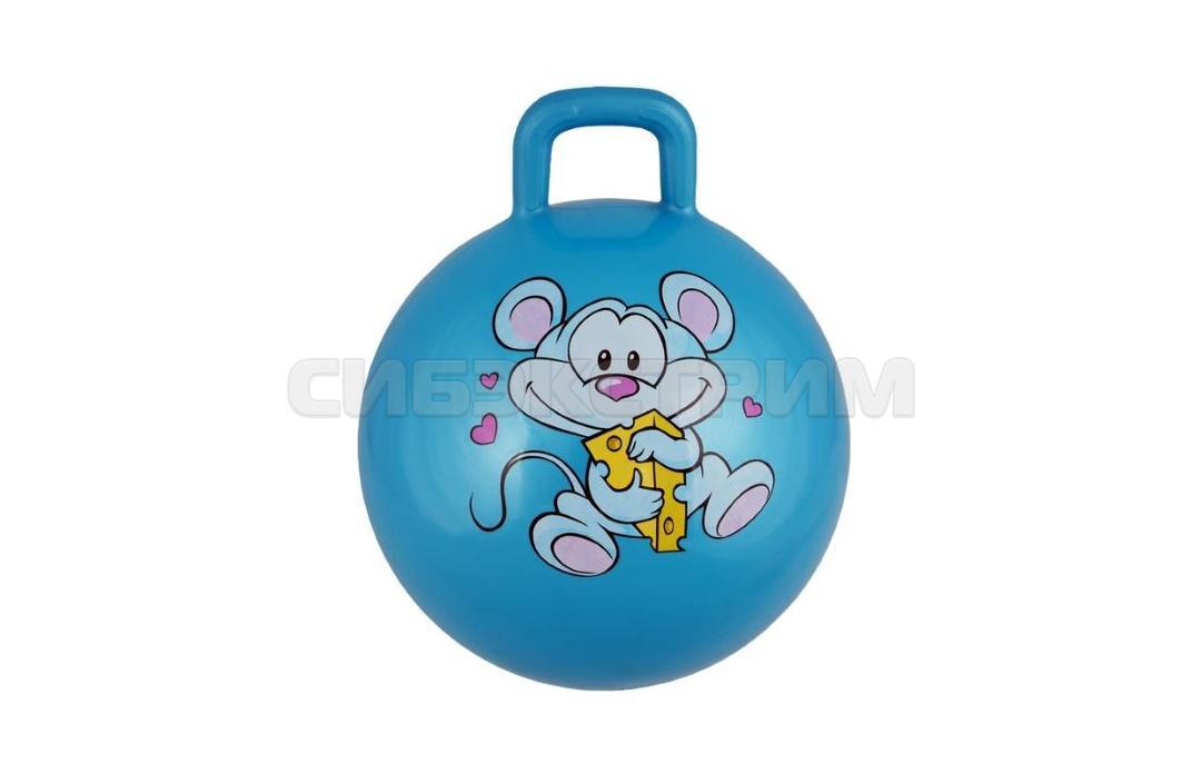 Мяч гимнастический Альфа Каприз BF-CHB01 d38 см с ручкой, бирюзовый