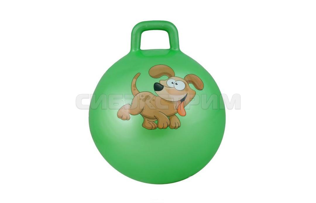 Мяч гимнастический Альфа Каприз BF-CHB01 d38 см с ручкой, зеленый