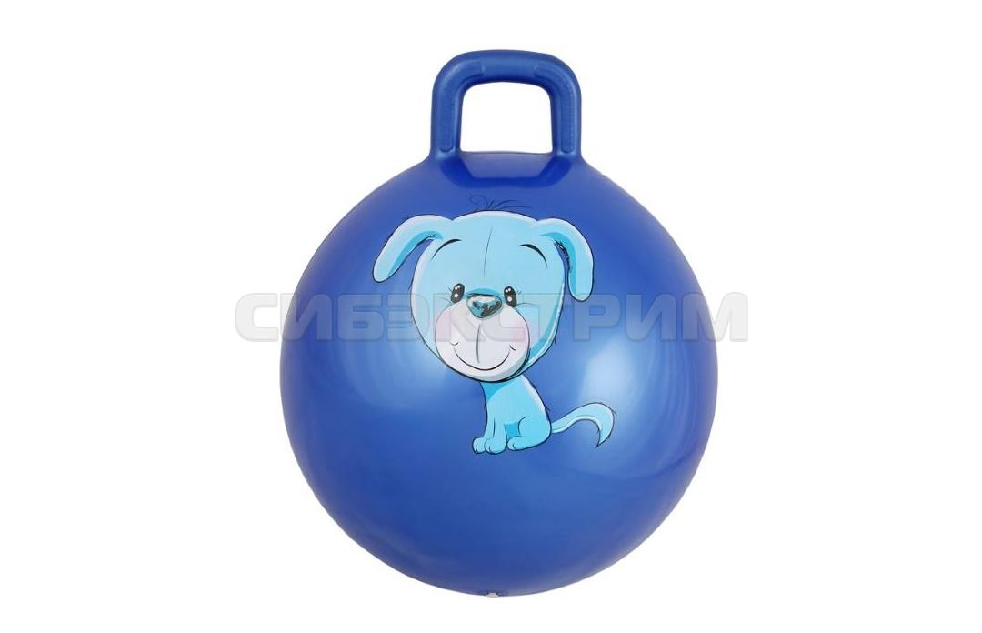 Мяч гимнастический Альфа Каприз BF-CHB01 d38 см с ручкой, синий