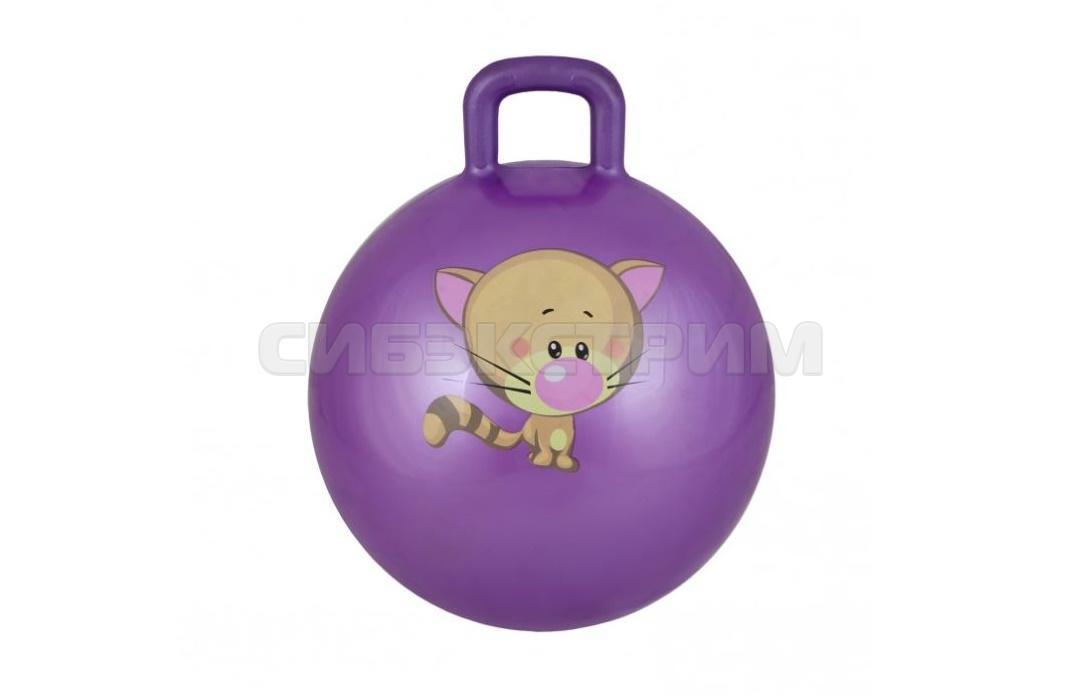 Мяч гимнастический Альфа Каприз BF-CHB01 d55 см с ручкой, фиолетовый