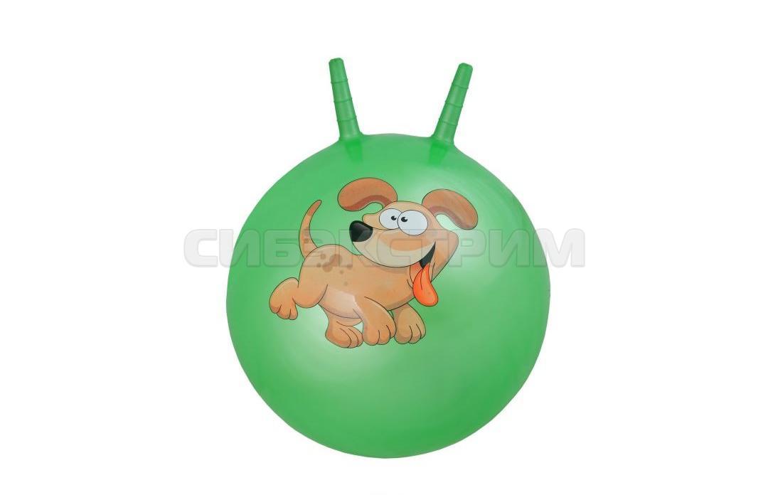 Мяч гимнастический Альфа Каприз BF-CHB02 d38 см с двумя ручками, зеленый