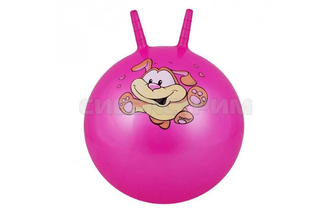 Мяч гимнастический Альфа Каприз BF-CHB02 d38 см с двумя ручками, розовый