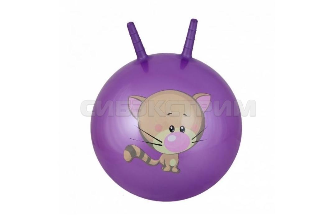 Мяч гимнастический Альфа Каприз BF-CHB02 d38 см с двумя ручками, фиолетовый