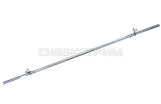 Гриф для штанги Титан В-25 мм хром 1,5 м, замок-пружина